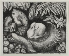 N (Is for Nap) From The ABC Bunny  Wanda Gág, American, 1893 - 1946