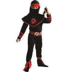 boys shadow ninja costume ninjago kost m fasching und fasnacht. Black Bedroom Furniture Sets. Home Design Ideas