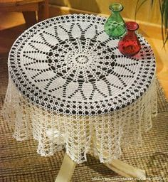 Crochet and arts: ROUND TABLECLOTH