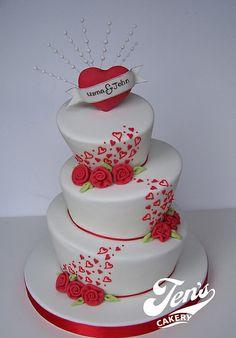 Valentine Wedding Cake