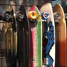 Zumiez Skateboards Sideways On Slatwall – Fixtures Close Up Slat Wall, Mac Miller, Skateboards, Can Opener, Trays, Daisy, Aesthetics, Shops, Retail