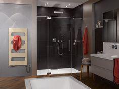 Schlichte PALME® Dusche für ein Badezimmer mit Stil. Bathroom Lighting, Bathtub, Mirror, Furniture, Home Decor, Showers, Bath Room, Bathing, Bathroom Light Fittings