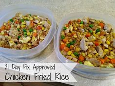 Delicious and easy to make Chicken Fried Rice. 21 Day Fix approved Delicious and easy to make Chicken Fried Rice. 21 Day Fix approved 21 Day Fix Desserts, 21 Day Fix Snacks, 21 Day Fix Diet, 21 Day Fix Meal Plan, 21 Day Fix Chili, Chicken 21 Day Fix, Butter Chicken Rezept, 21 Day Fix Breakfast, 21 Day Fix Extreme