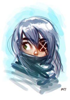 Eyepatch girl by njay on DeviantArt