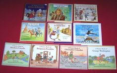 10 If You Lived...A Picture Book of... Books Ellis Island Sioux Indians Age 6-10