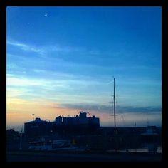 by petra_van_hamme: #sunset #clouds #haven #gent #ghent #welovegent #visitgent