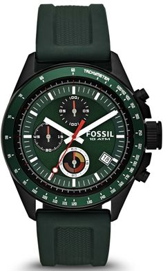 Fossil  Watch Decker Chronograph Silicone Watch - Green Ch2878 Relojes  Fossil 5f4d78352d3
