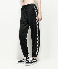 Vans Black & White Checker Track Pants