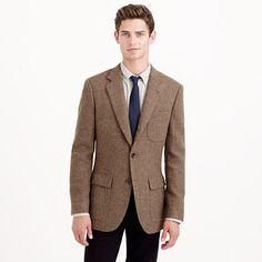The tweed in this version of the Ludlow sportcoat was woven by the world's finest, a Scottish mill called Harris Tweed that's located on the islands of the Outer Hebrides (the fabric has been handwoven in the homes of islanders for hundreds of years). The jacket itself is partially unconstructed—in other words, it's made with a specially developed interior that offers <i>some</i> structure but, because of a soft shoulder, maintains a more laid-back look than traditional sportcoats (aka it's…