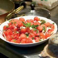Watermelon Salad with Feta and Mint via Delish