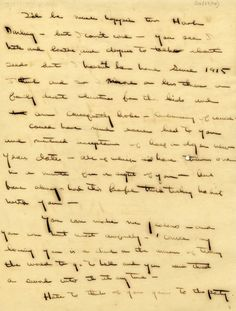 "A LETTER TO HADLEY RICHARDSON, HEMINGWAY'S FIRST WIFE, DECEMBER 23, 1920. ""Could have much easier lied to you and mentioned acceptance of half a dozen New Years dates—all of which I'd have thrown out in a minute for a sight of you—but have always had this beautiful truth talking habit with you."" FROM THE SPECIAL COLLECTION LIBRARIES/THE PENNSYLVANIA STATE UNIVERSITY LIBRARY."