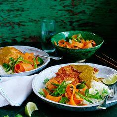 Chicken katsu curry recipes - How to make katsu curry - Wagamama's chicken katsu curry - Good Housekeeping Veggie Recipes, Asian Recipes, Vegetarian Recipes, Chicken Recipes, Cooking Recipes, Healthy Recipes, Ethnic Recipes, Oven Recipes, Weekly Recipes