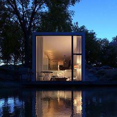 Lake House by Paulo Quartilho - Fine Architecture Design Exterior, Interior And Exterior, Exterior Paint, Room Interior, Haus Am See, Casas Containers, Interior Architecture, Minimalist Architecture, Tiny House