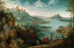 Pierre Brueghel l'Ancien, Paysage avec fuite en Égypte, 1563. Londres, galerie de l'Institut Courtauld.