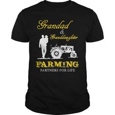 Cool Grandad and Granddaughter Farming T-Shirts