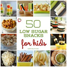 50 Low Sugar Snacks for Kids | Healthy Ideas for Kids