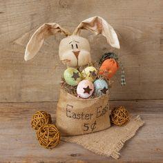Easter Bunny in Burlap Bag