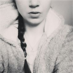 #black #white #portrait #ponytail