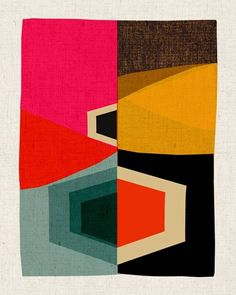 Love the vintage prints by Kristina Sostarko and Jason Odd, founders of Australian studio Inaluxe.