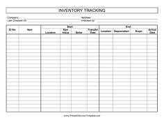 inventory control spreadsheet