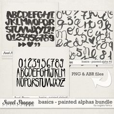 Basics - Painted Alphas Bundle by Sugary Fancy