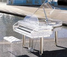 Glass piano. AHHH I FOUND IT!! I FOUND THE PIANO I HAVE ALWAYS WANTED TO PLAY!!!!!!!!! :D