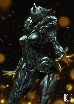 Saryn by Kevin-Glint on DeviantArt Warframe Excalibur, Warframe Art, Warframe Prime, Alien Concept, Armor Concept, Concept Art, Rpg Cyberpunk, Cyberpunk Character, Alien Character