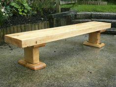 macrocarpa sleeper bench