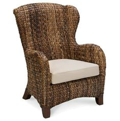 Seagrass Wing Back Chair Iu0027ve Always Thought These Were Pretty. No Idea How