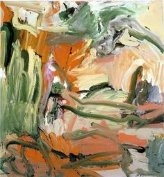 abstract painting by Willem de Kooning Willem De Kooning, Action Painting, Painting & Drawing, Jackson Pollock, Art Doodle, Lee Krasner, Expressionist Artists, Guache, Art Plastique