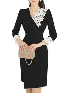 Body Con Dress, Bodycon Dress Formal, Elegant Dresses, Formal Dresses, Dresses For Work, Dresses With Sleeves, Casual Dress Outfits, Summer Outfits, Dress Summer