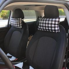 Plaid Checker Square Shaped Car Seat Headrest Pillow Size of the Headrest pillow: cm inch); Fit your car's seat neck rest from wide up to wide. Listing is for 1 piece. Car Seat Headrest, Car Seat Blanket, Car Seat Pillow, Best Car Seats, Girly Car, Diy Kleidung, Most Comfortable Office Chair, Office Chair Without Wheels, Low Stool