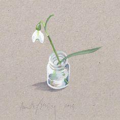 first snowdrop www.annettefienieg.nl