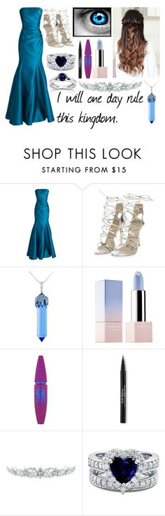"""""""The Pure Sapphire Princess"""" by heartless-knight on Polyvore featuring Badgley Mischka, Simone I. Smith, Sephora Collection, Maybelline, Trish McEvoy, Kate Marie, BERRICLE and Kobelli"""