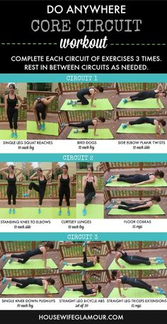 (Less than) 30 minute circuit workout that targets the core you can do anywhere!