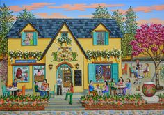 Gina gallery - The Mate Museum. GINA Gallery of International Naïve Art deals in the procurement and sale of naïve art from all over the world Naive Art, Watercolor Flowers, Folk Art, Whimsical, Cross Stitch, Museum, Art Prints, House Styles, Gallery