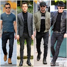 In our latest edition of Steal His Style, learn how to dress like the very fashionable, Justin Theroux, with tips from our Personal Stylists. Stylish Men, Men Casual, White Jeans Outfit, Justin Theroux, Suede Chelsea Boots, Sharp Dressed Man, Suit And Tie, Perfect Man, Trends