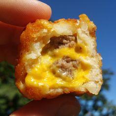 Dbl Cheeseburger Stuffed Tater Tots