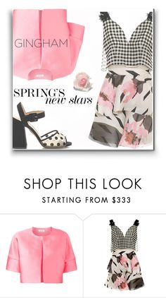 """""""Gingham Dress"""" by ajspragu02 ❤ liked on Polyvore featuring P.A.R.O.S.H. and Delpozo"""
