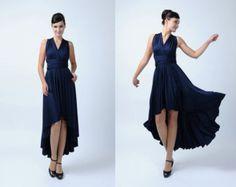 Infinity Dress, Navy blue Bridesmaid Dresses, Prom dress, Wrap convertible dress, Wedding dresses,High Low dress