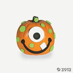 Foam Monster Pumpkin Decorating Craft Kit - Oriental Trading