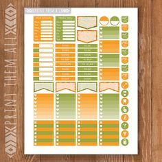 Thanksgiving Day Printable Planner Stickers by PrintThemAllStudio