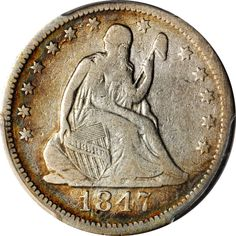 1847-O Liberty Seated Quarter. Briggs 1-B. Fine-12 (PCGS). Available now at Finger Lakes Numismatics. Visit our store or contact us at (315) 308-6943 or email us at coins.fln@gmail.com
