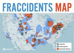 "Contrary to the oil & gas industry's claim that fracking is harmless and safe, there have been numerous documented ""fraccidents"" linked to poisoned drinking water, polluted air, mysterious animal deaths, and explosions. Check out this link for an interactive map of fraccidents! >> http://earthjustice.org/features/campaigns/fracking-across-the-united-states"