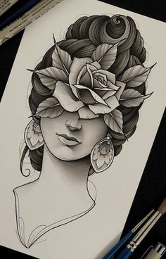 Best drawing tattoo neo trad Ideas - Carry ON Neo Tattoo, Medusa Tattoo, Tattoo Sketches, Tattoo Drawings, Cool Drawings, Oldschool, Girl Sketch, Neo Traditional Tattoo, Finger Tattoos
