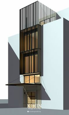 Architecture Building Design, Building Facade, Facade Design, Exterior Design, Interior Architecture, Townhouse Designs, Bali, Box Houses, House In The Woods
