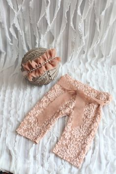 peach chiffon lace pant set Newborn baby pant set girl pant and hat made by pup and frank,newborn photography props Baby Pants, Girls Pants, Baby Girl Dresses, Baby Dress, Newborn Outfits, Kids Outfits, Baby Girl Fashion, Kids Fashion, Newborn Photography Props