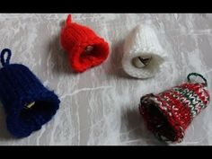 Knitted Decorative Bells - YouTube