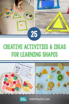 25 Creative Activities and Ideas For Learning Shapes. This important early skill prepares kids for success in both math and writing. Try these fun activities for kids who are learning shapes. #teaching #teacher #activities #activitiesforkids #STEM Kindergarten #preschool Geometry Activities, Fun Activities For Kids, Creative Activities, Learning Activities, Kids Learning, Kindergarten Crafts, Teaching Kindergarten, Preschool, Lego Math