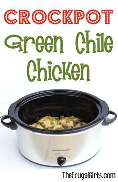 Crockpot Green Chile Chicken Recipe at TheFrugalGirls.com